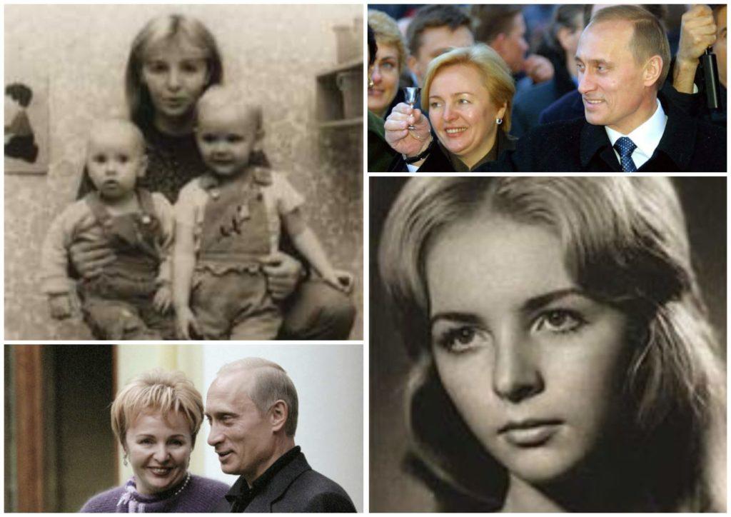 На фото изображена Людмила Путина в молодости и с бывшим супругом.