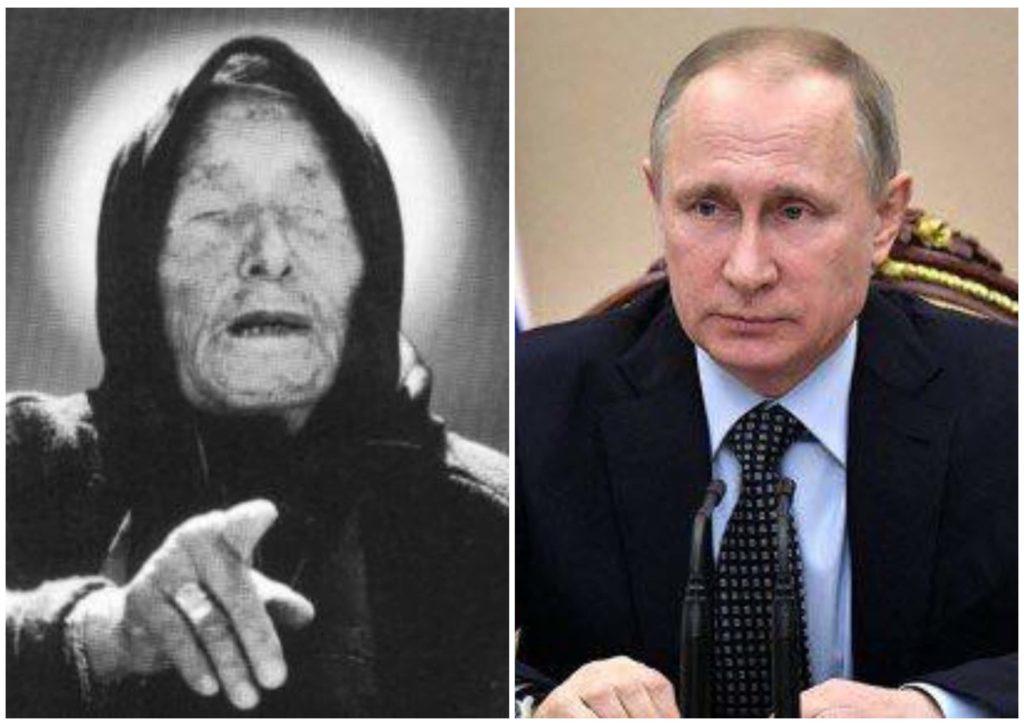 На фото изображены Ванга и Владимир Путин.
