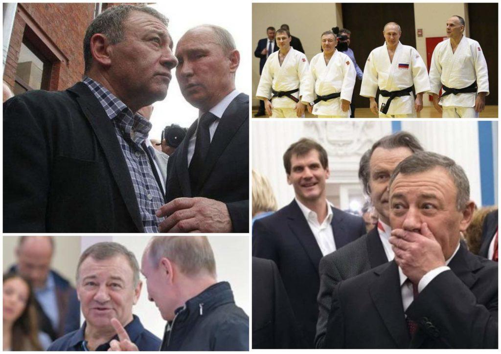 На фото изображены Владимир Путин и Аркадий Ротенберг.