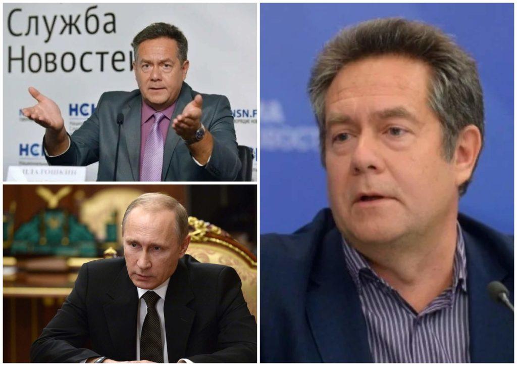 На фото изображены Николай Платошкин и Владимир Путин.