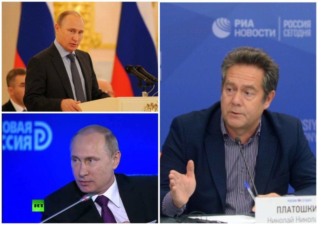 На фото изображены Владимир Путин и Николай Платошкин.