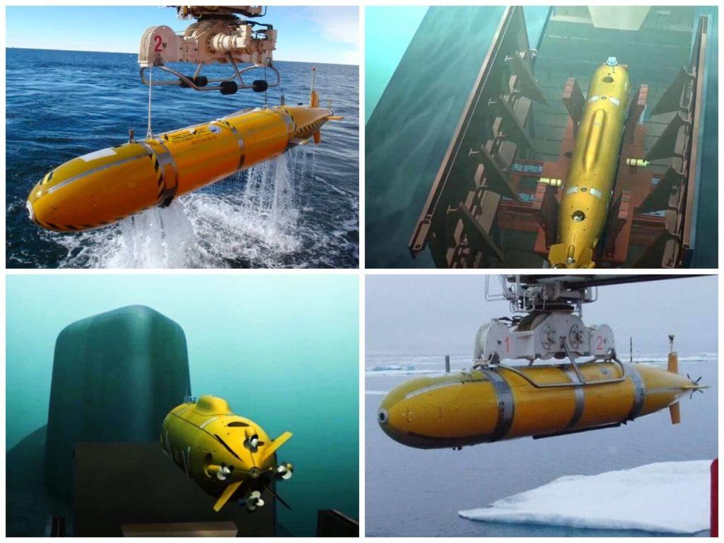 На фото беспилотный подводный аппарат.