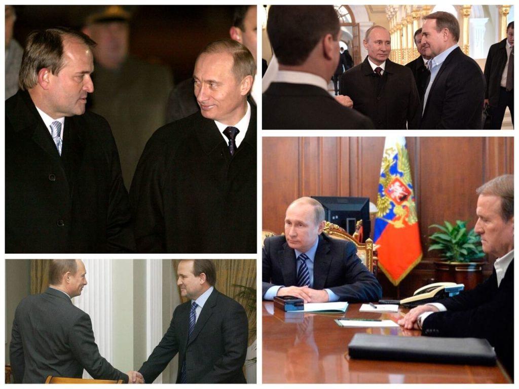 На фото Медведчук и Путин.