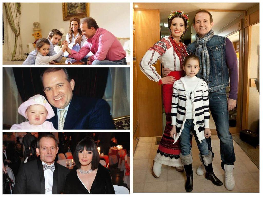 На фото изображен Виктор Медведчук со своей семьей.