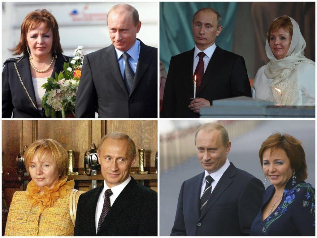 На фото изображен Путин с супругой.