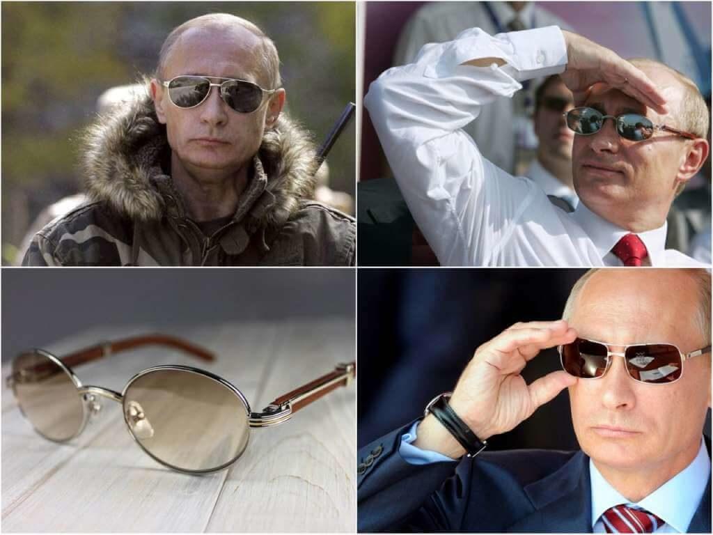На фото Путин в очках бренда Cartier.