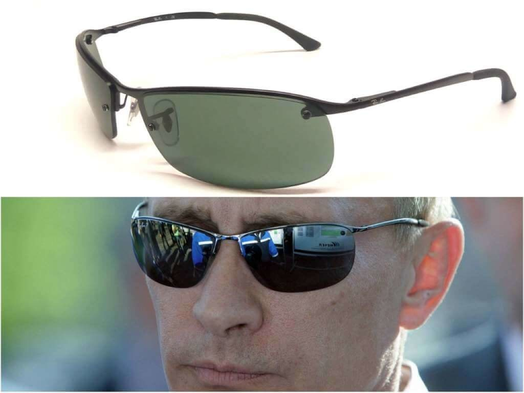 На фото Путин в очках фирмы Ray-Ban.