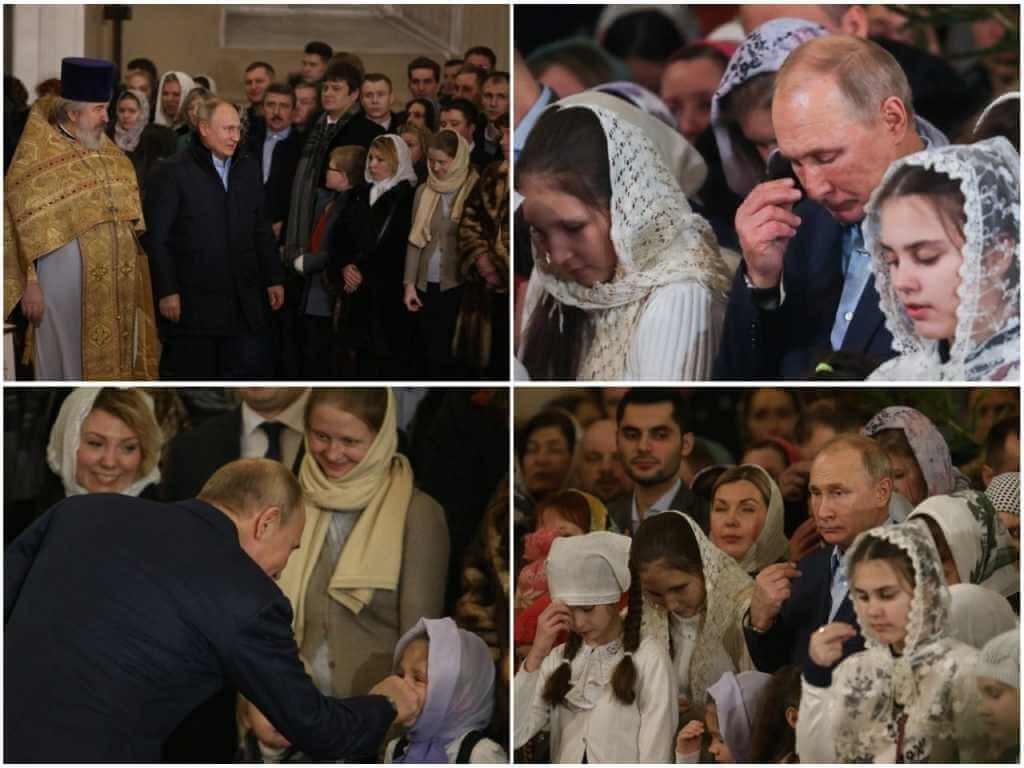 На фото Путин в Спасо-Преображенском Соборе (часть 1).