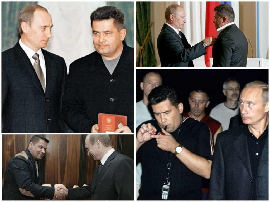 На фото Путин и «Любэ».