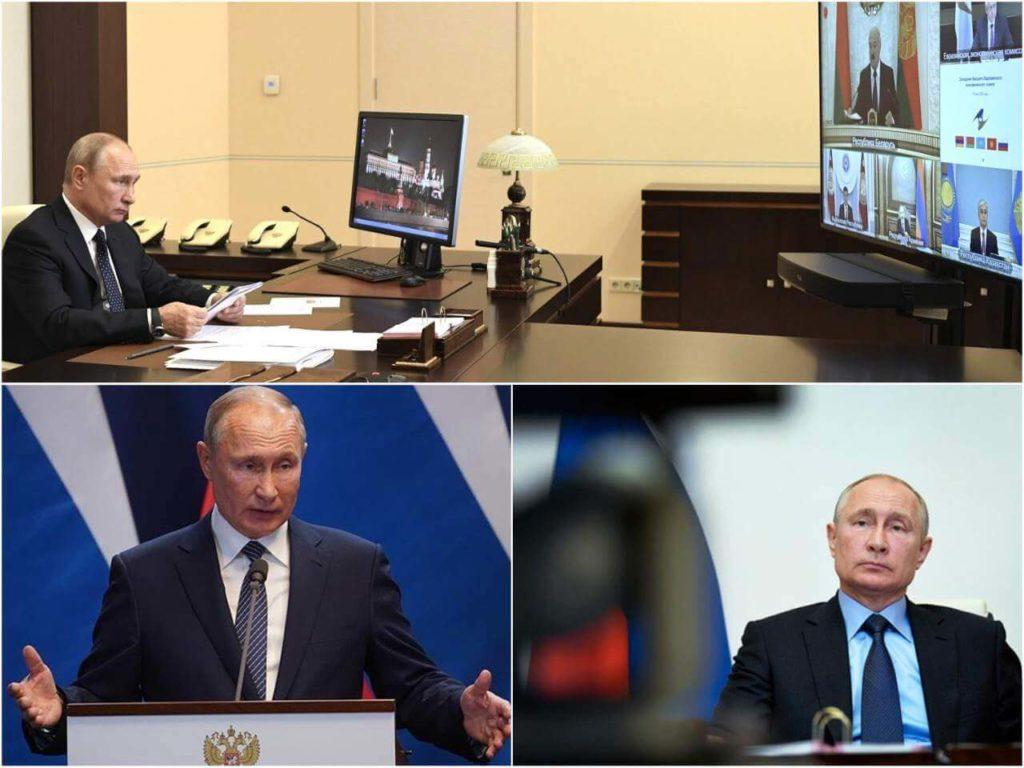 На фото президент России Владимир Владимирович Путин.