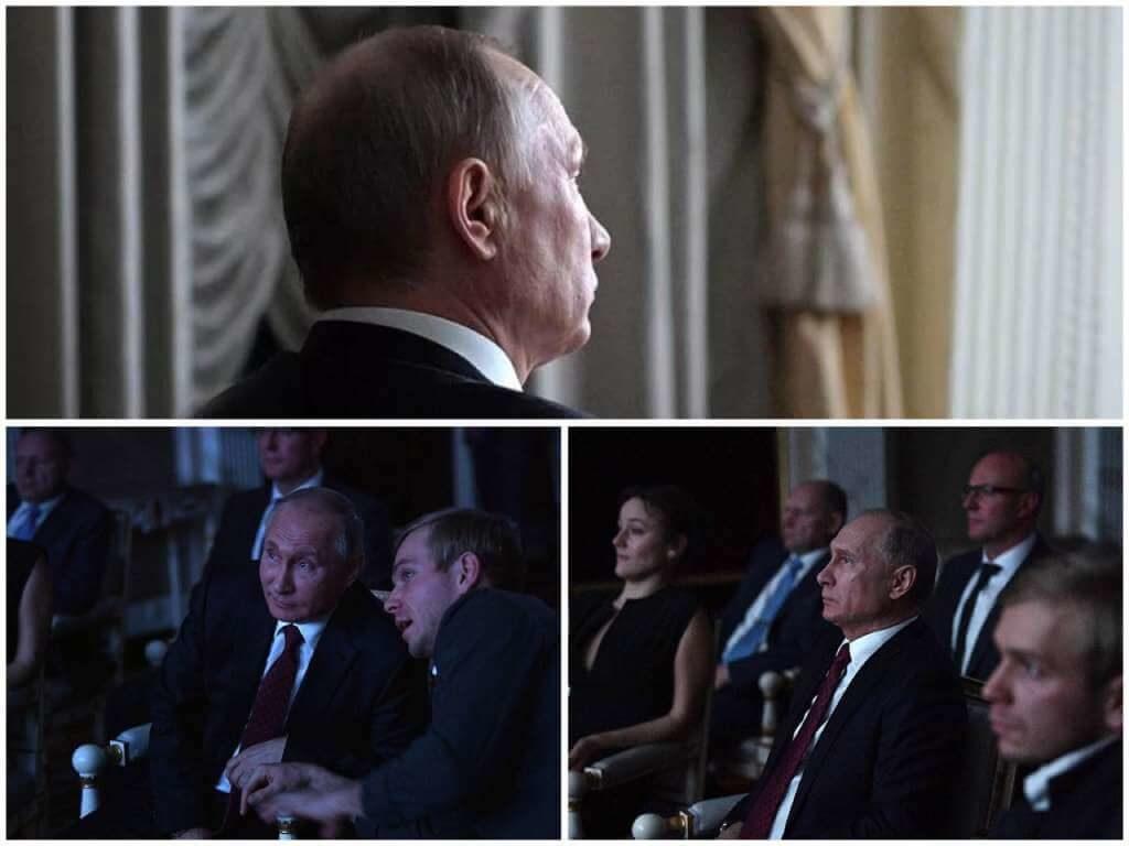 На фото Путин смотрит фильм.