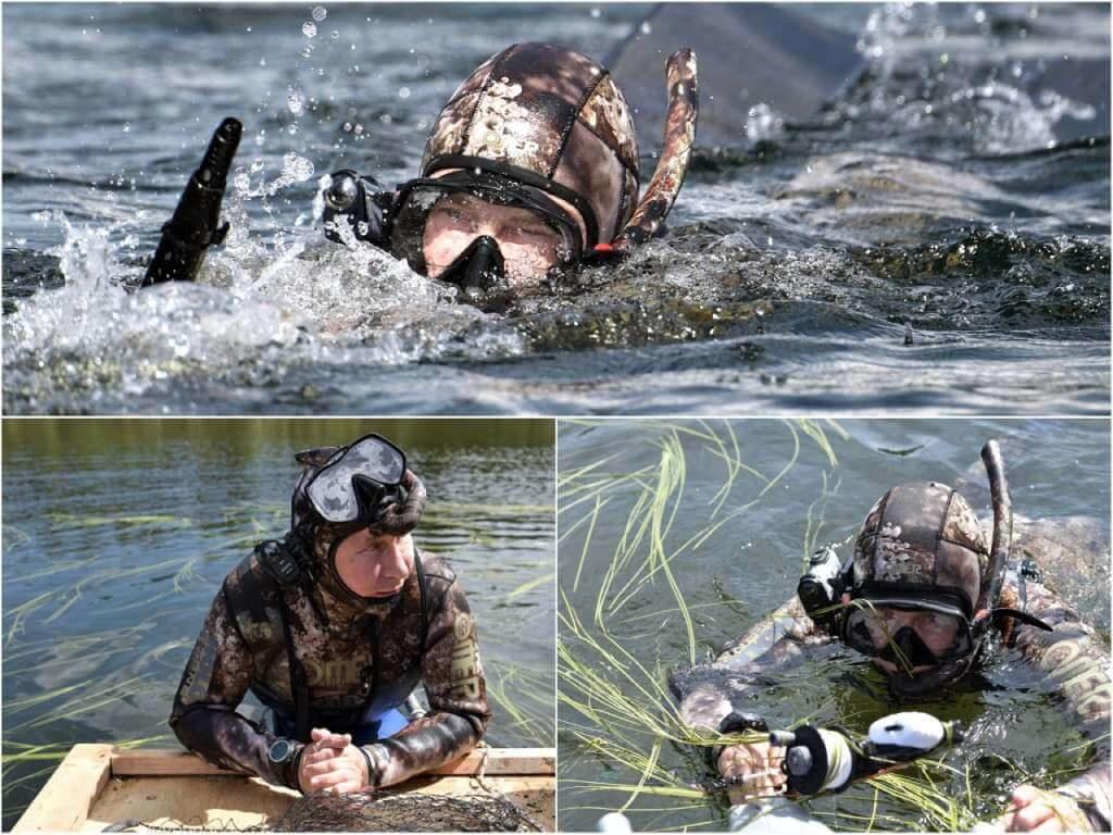 На фото путин в подводном костюме.