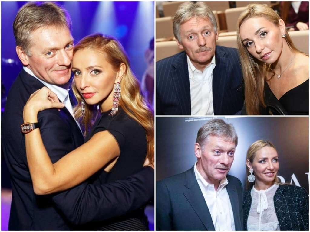 На фото Дмитрий Песков с женой.