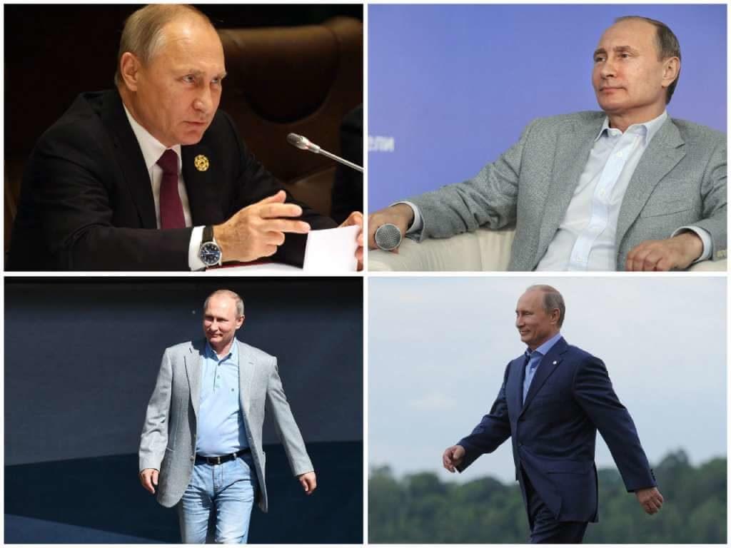 На фото Путин в пиджаках.