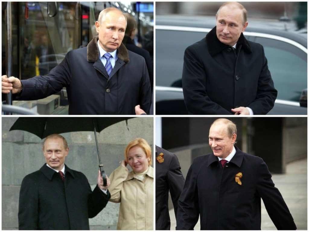 На фото Путин в пальто.