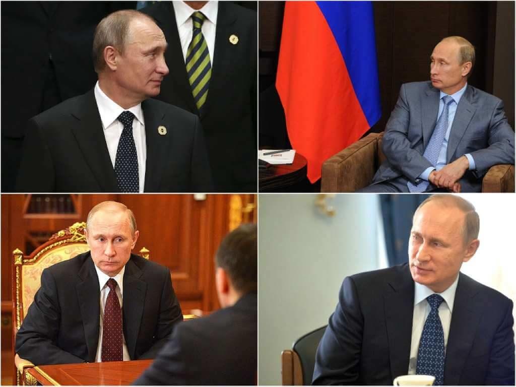 На фото галстуки Путина.