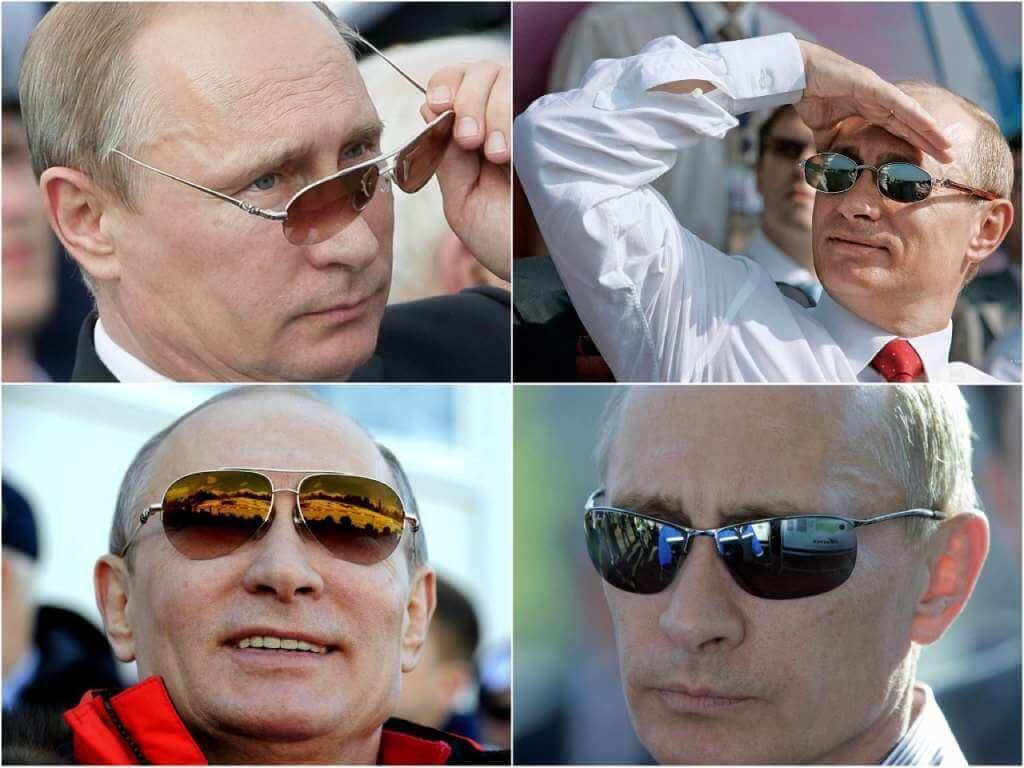 На фото Путин в очках.