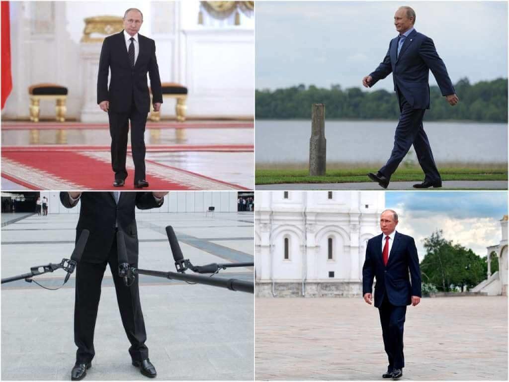 На фото обувь Путина.