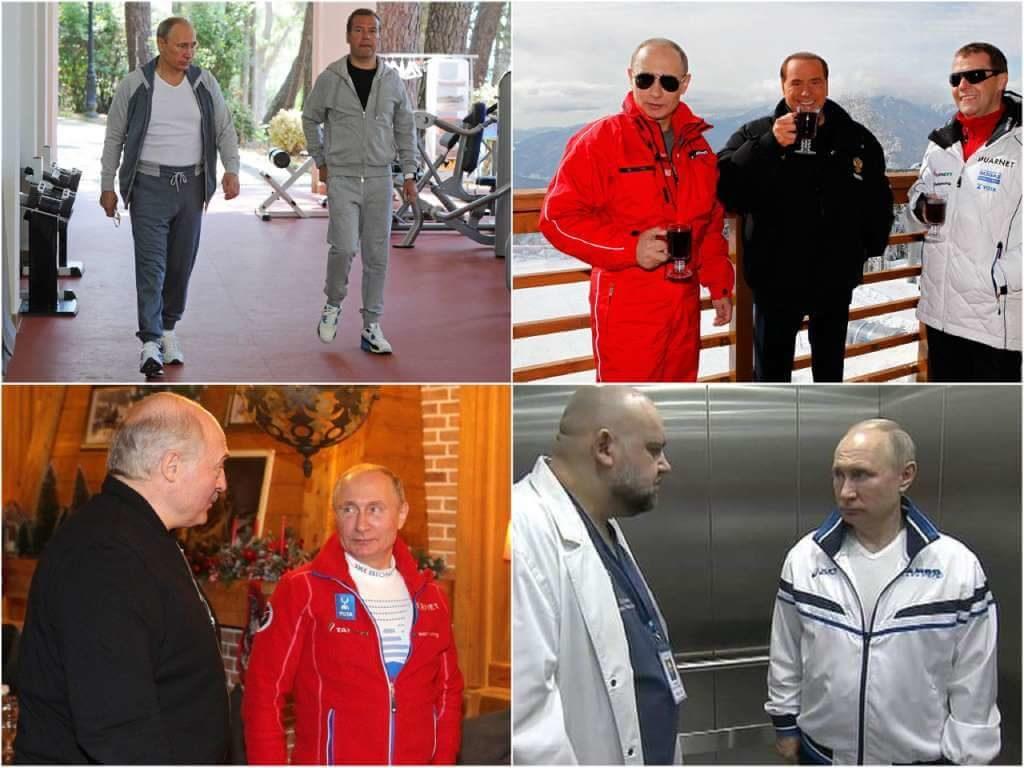 На фото Путин в спортивном костюме.