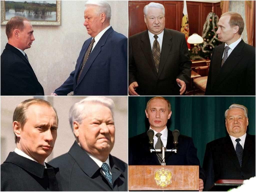 На фото Ельцин и Путин (часть 2).