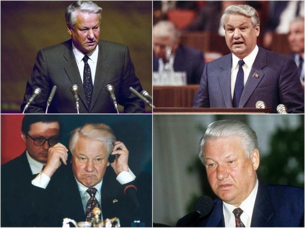 На фото Борис Ельцин.