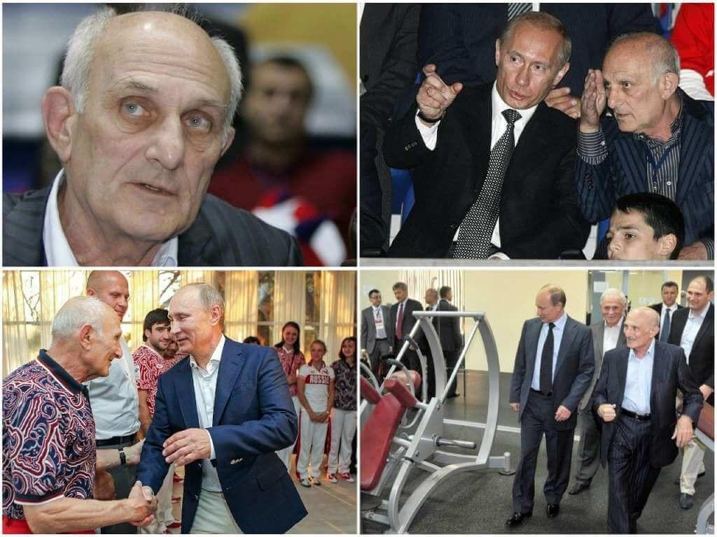 На фото тренер Путина Анатолий Рахлин.