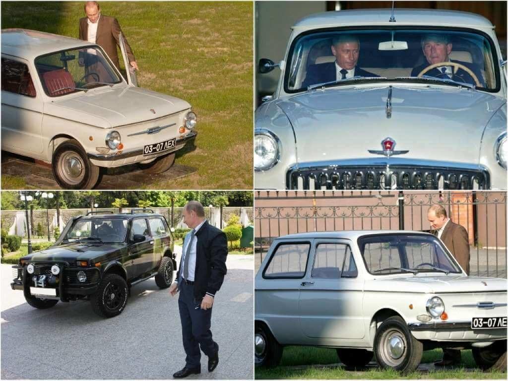 На фото автомобили Путина.