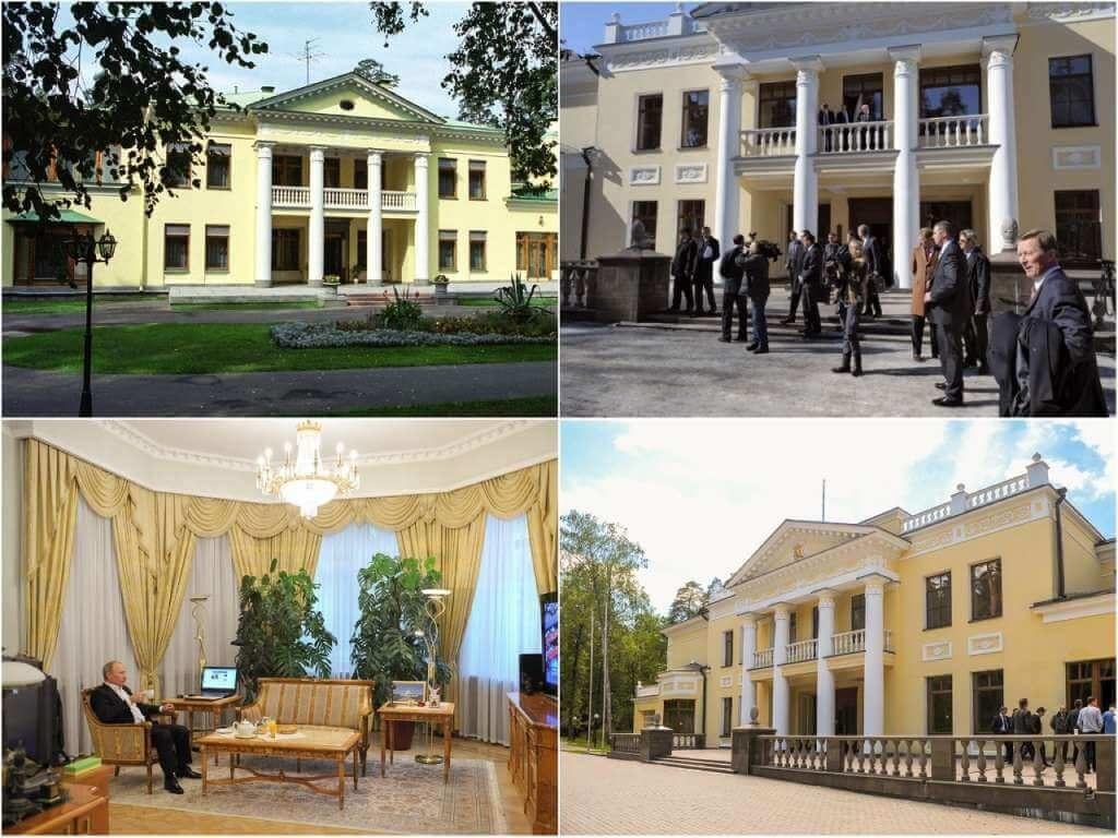 На фото резиденция Путина в Ново-Огарево.