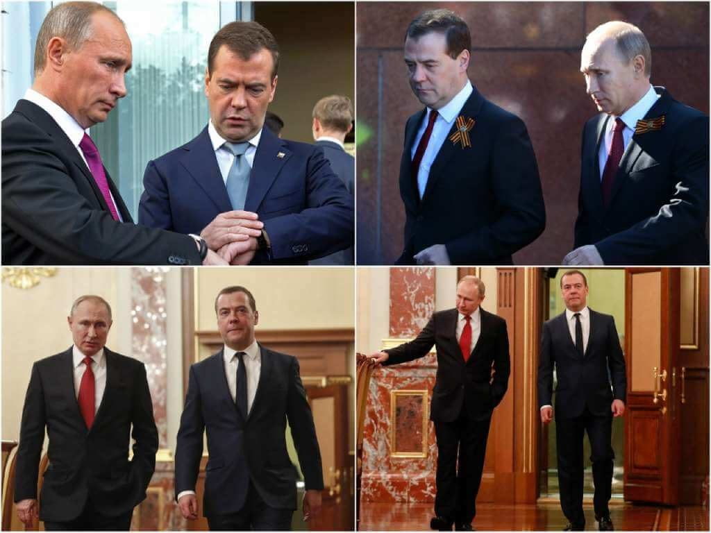 На фото Дмитрий Медведев и Владимир Путин.