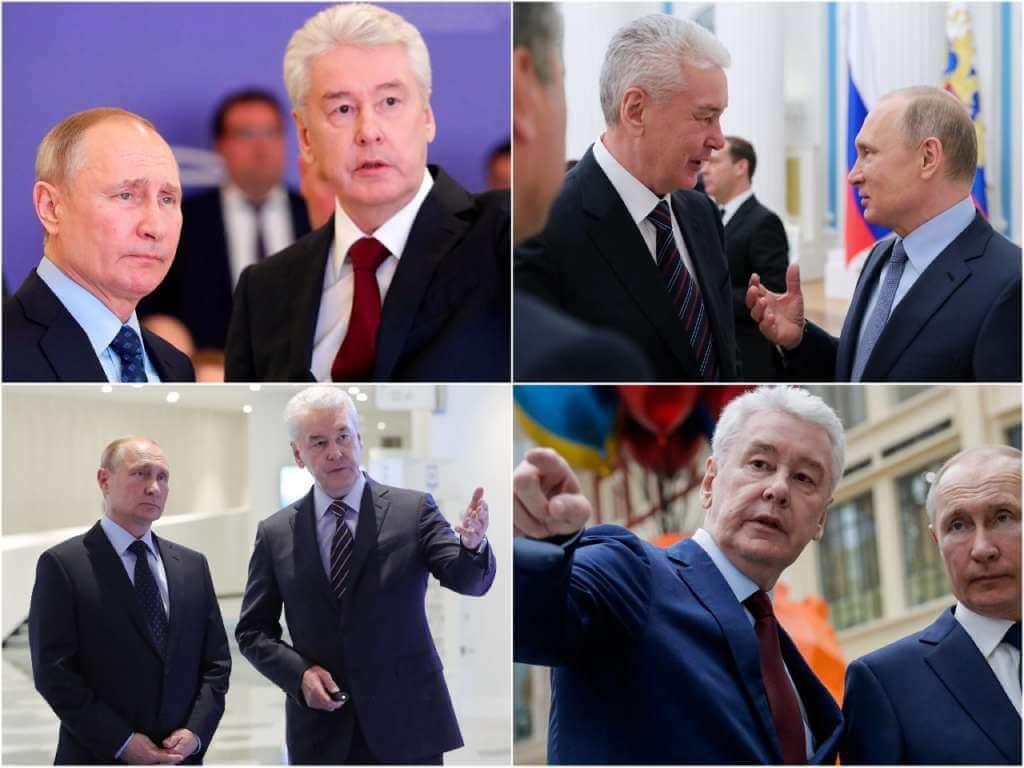 На фото Сергей Собянин и Владимир Путин.