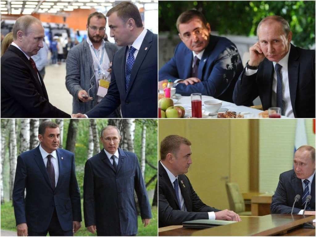 На фото Алексей Дюмин и Владимир Путин.