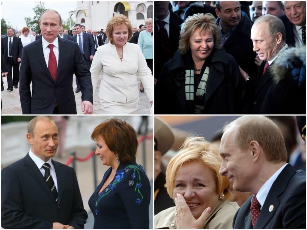 На фото Владимир Путин с бывшей женой.