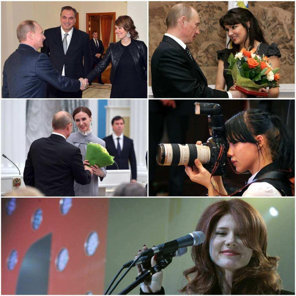 На фото Мария Кожевникова, Анна Нетребко, Светлана Захарова, Яна Лапикова, Анна Чапман.