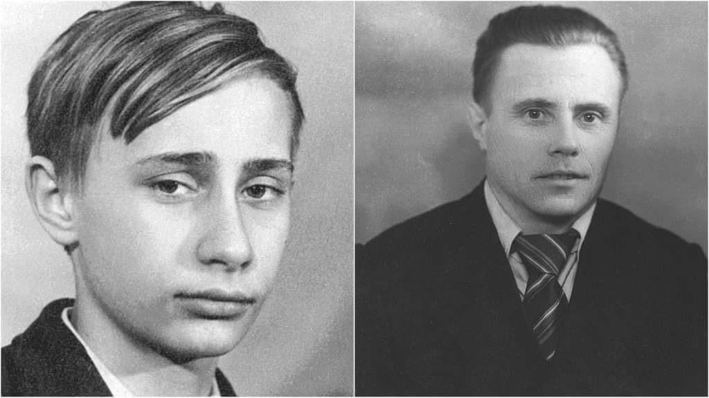 На фото Владимир Путин и его отец.