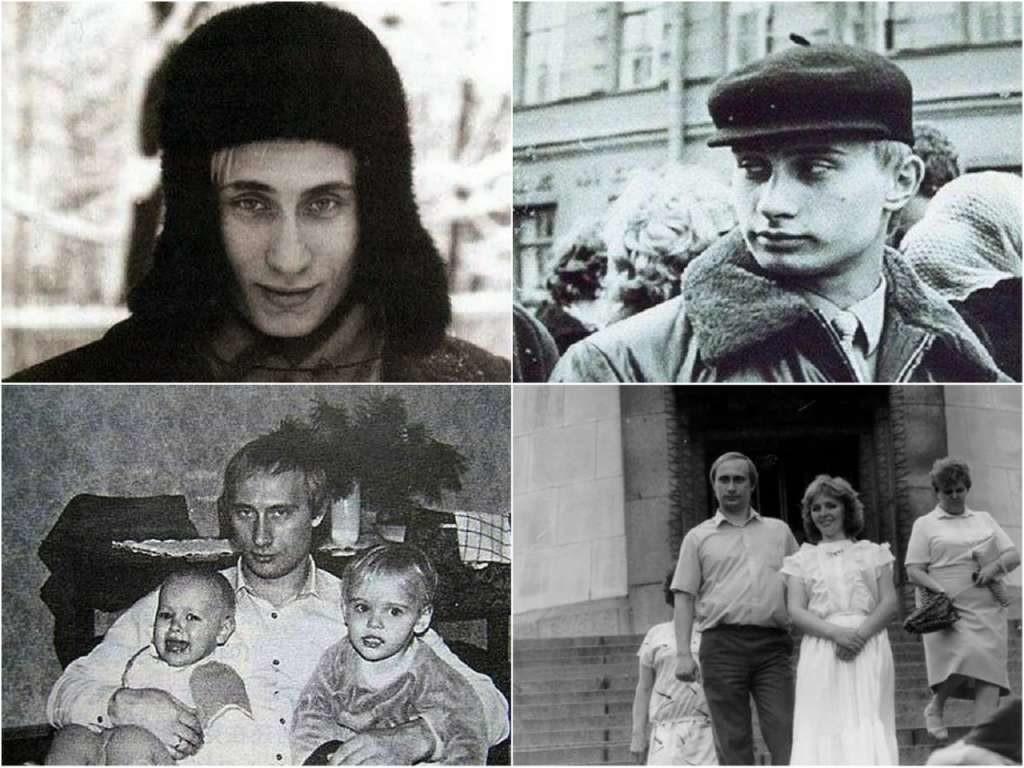 На фото Путин в молодости (часть 1).