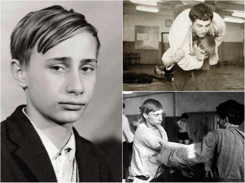 На фото Путин в молодости (часть 2).
