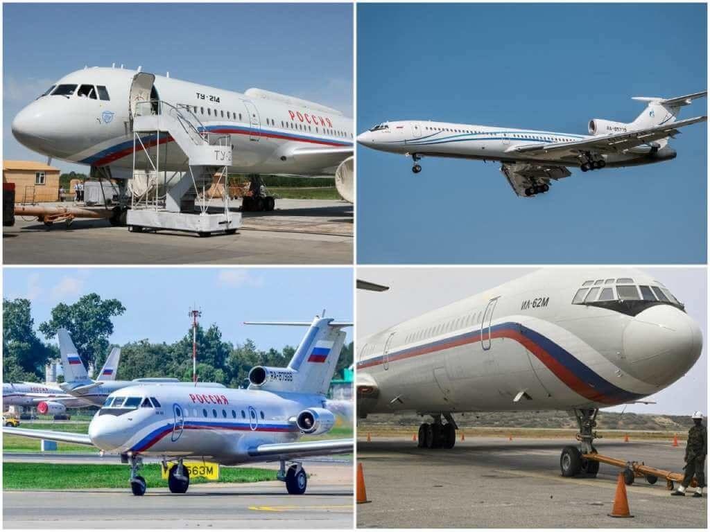 На фото самолеты Путина.