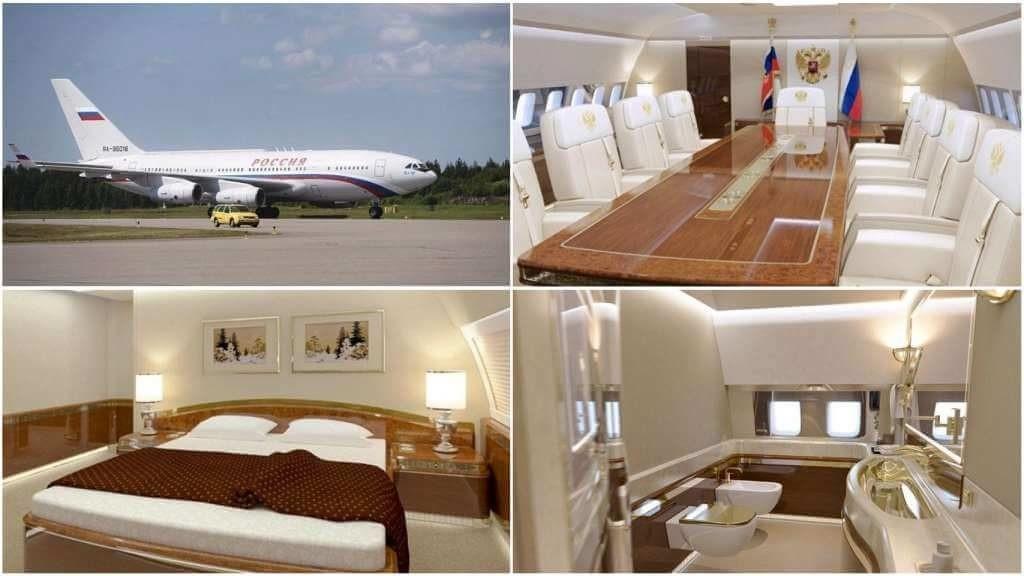 На фото интерьер самолета президента (часть 1).