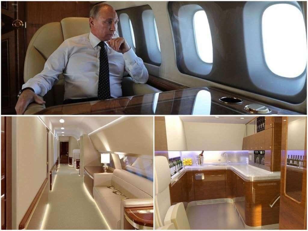 На фото интерьер самолета президента (часть 2).
