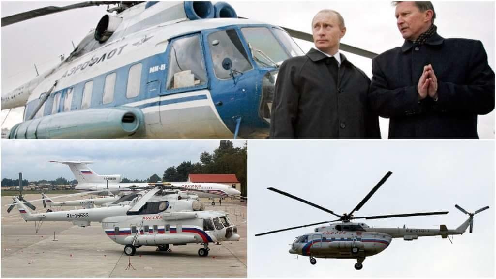 На фото вертолет Путина.