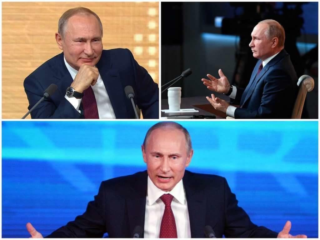 На фото Владимир Путин на пресс-конференции (часть 3).
