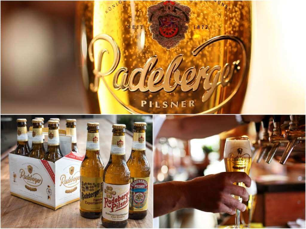 На фото любимое пиво Путина - Радебергер.