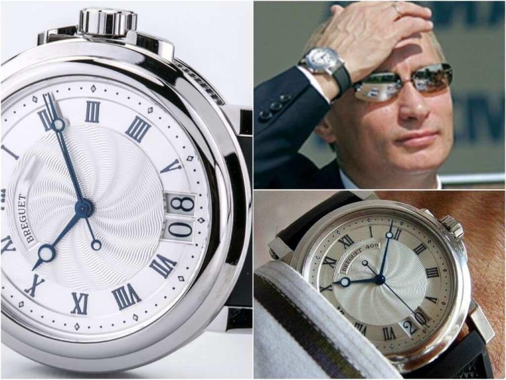 На фото часы Путина Breguet Marine 5817ST/12/5V8.