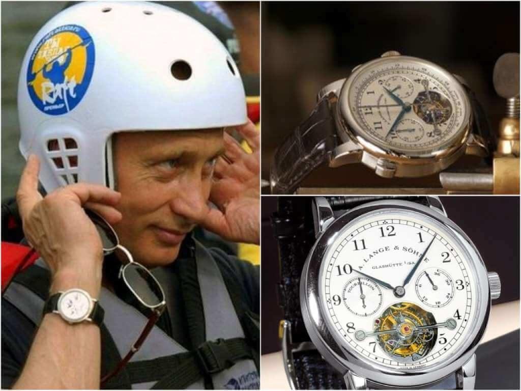 На фото часы Путина A. Lange & Sohne Tourbograph «Pour le Mrite».