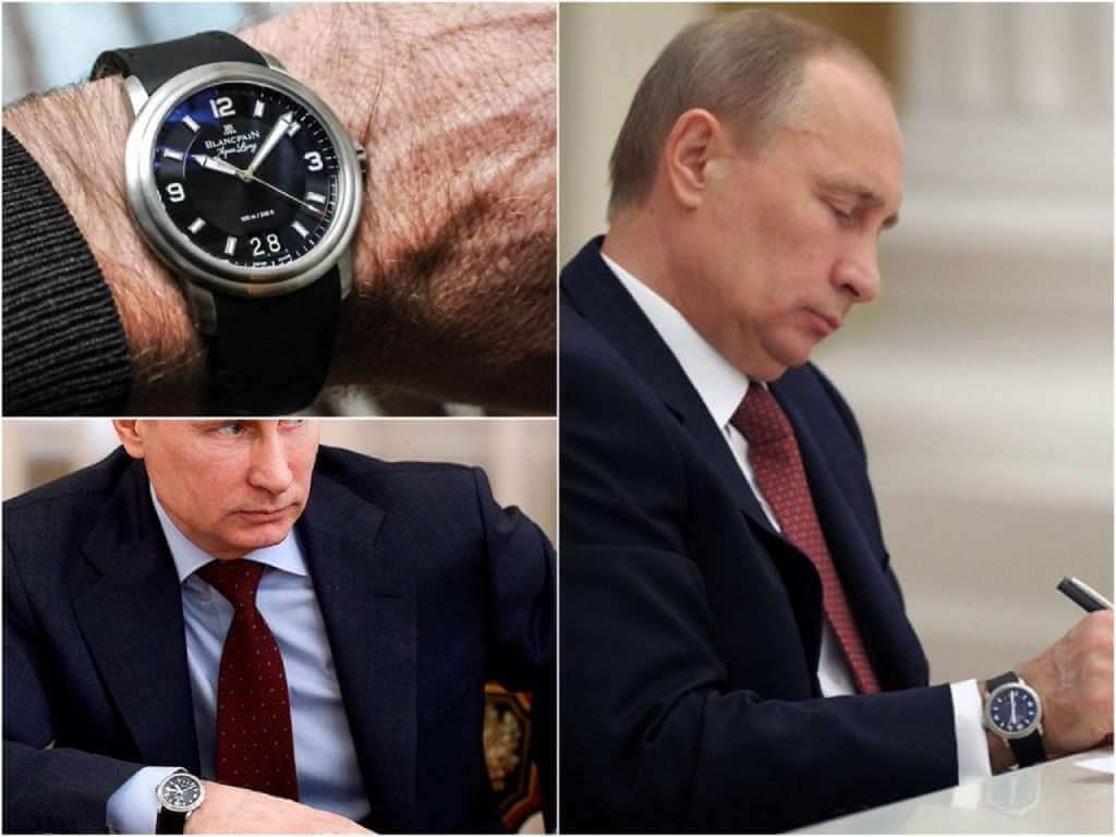 На фото часы Путина Blancpain Leman Aqualung Grande Date.