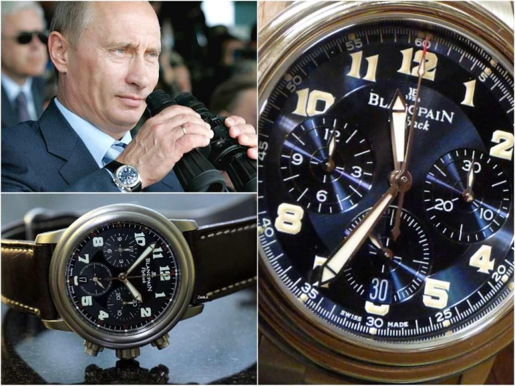 На фото часы Путина Blancpain Leman Flyback Chronograph 2185F.