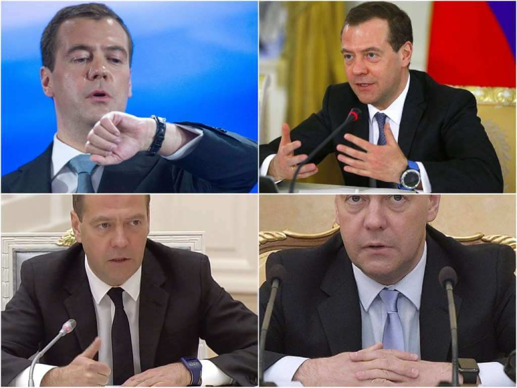 На фото изображены часы Медведева.