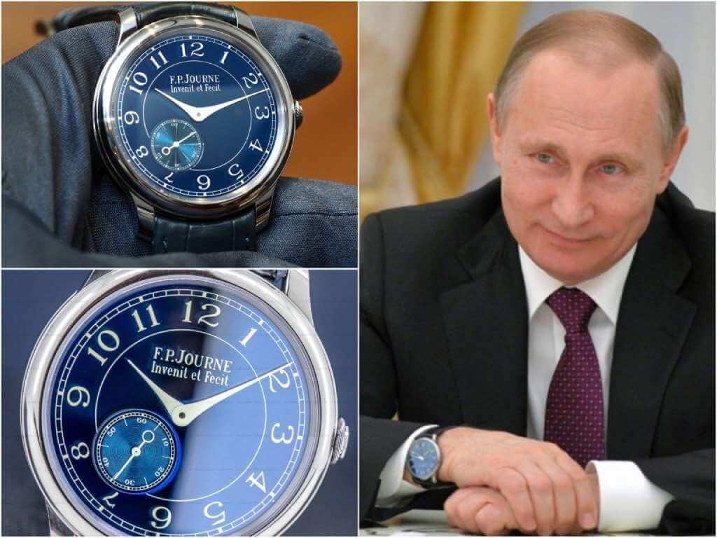 На фото часы Путина F.P. Journe Chronometre Bleu.