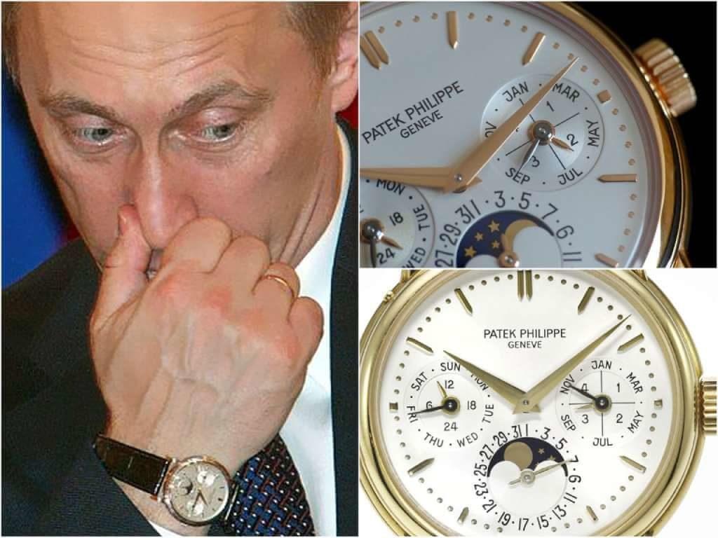 На фото часы Путина Patek Philippe Perpetual Calendar ref. 3974.