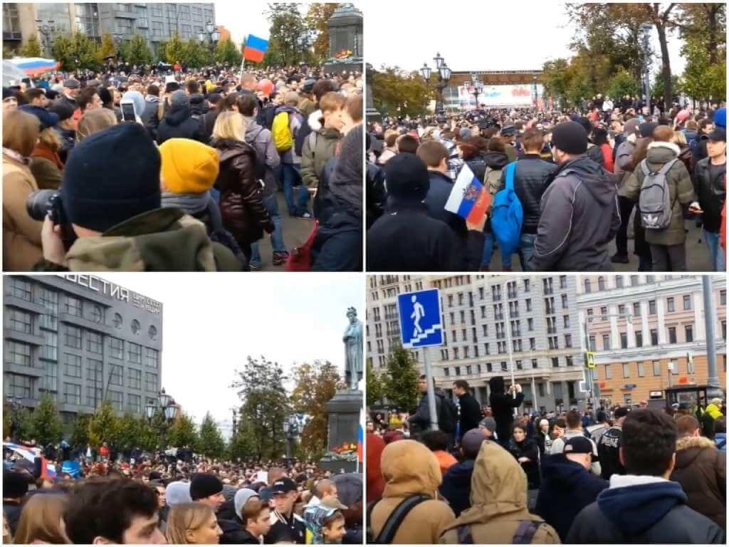 На фото акция против Путина (часть 2).
